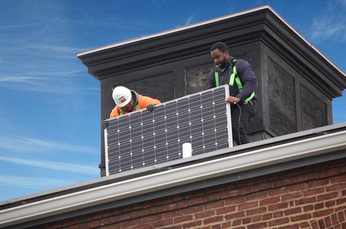 POWER house solar panel installation