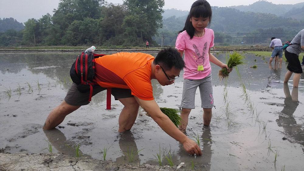PCA, china, urban kids planting rice