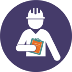 worker safety and health icon